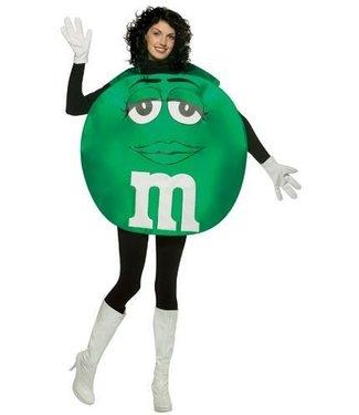 Rasta Imposta M&M Green, Poncho - Adult One Size M and M