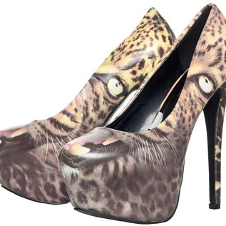 Platform Heels Leopard - Size 10