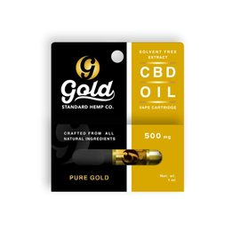 Gold Standard CBD CBD Vape Cartridge 500mg Pure Gold Mint by Gold Standard CBD