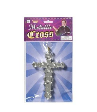 Forum Novelties Metallic Cross Necklace (C13)