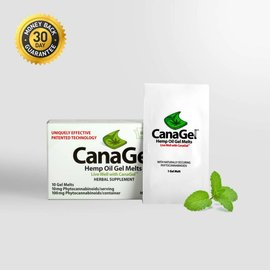 CBD Hemp Oil Gel Melts Single By CanaGel