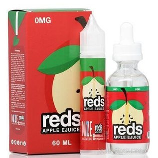 Reds Apple 0mg 60ml eLiquid by 7 Daze