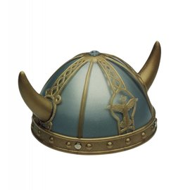 Jacobson Hat Company Helmet Viking, Gold/Silver