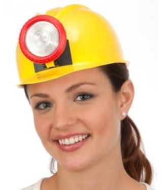 Hat Miner Hard Hat with Light by Jacobson Hats
