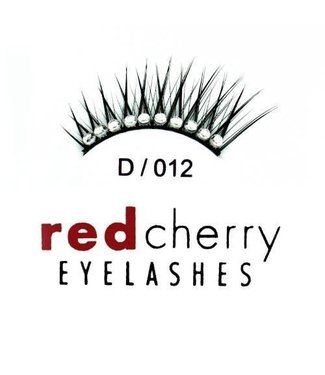 Red Cherry Eyelashes Gem D012