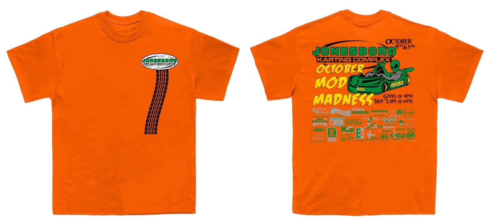 (preorder) 2019 Pro Mod Madness Shirt Adult Small Orange