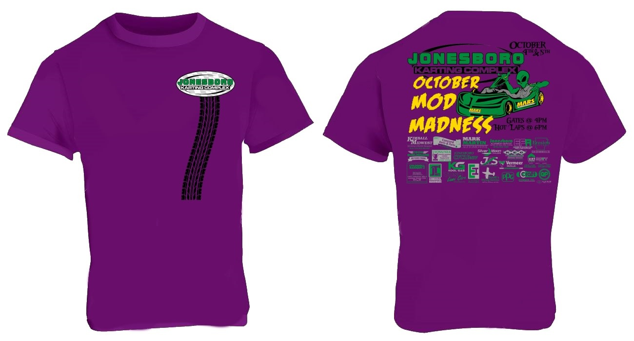 (preorder) 2019 Pro Mod Madness Shirt Adult Large Purple