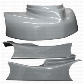 Fiberglass Kart Body Kit Silver