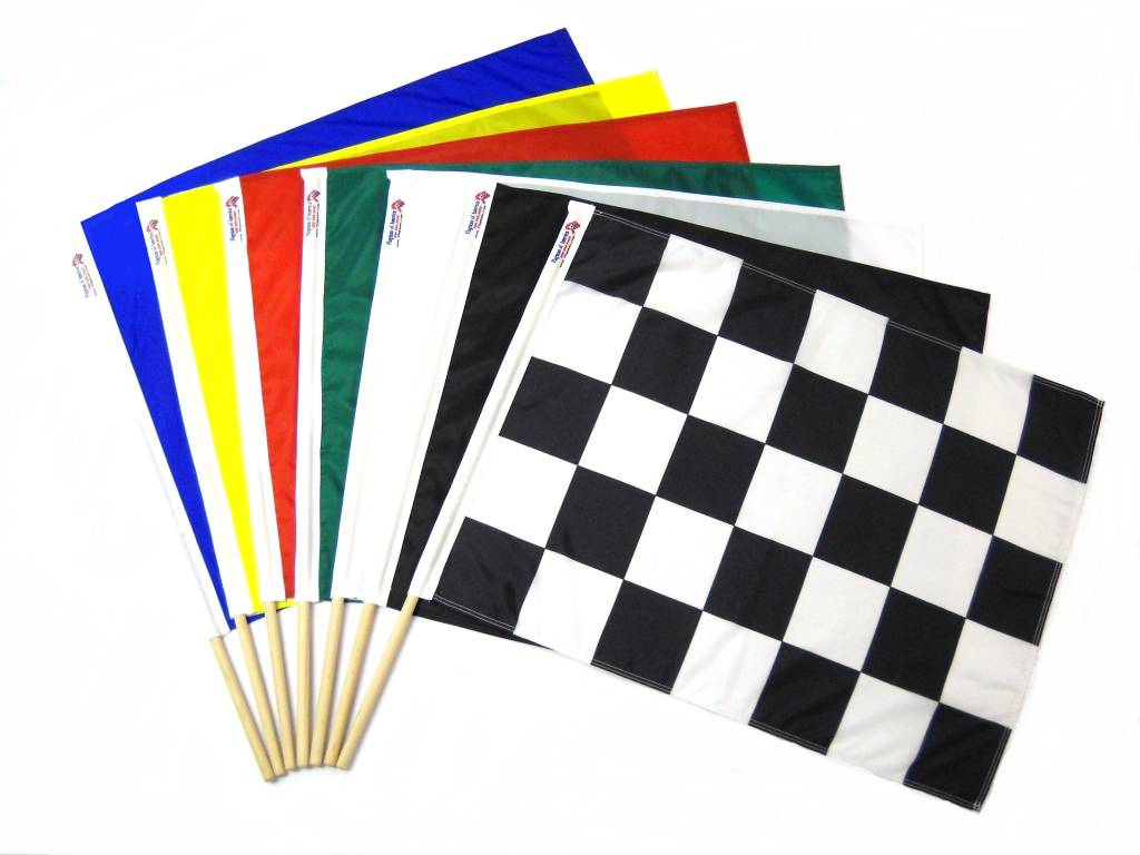 "7 PC 24"" X 24"" RACE FLAG SET"