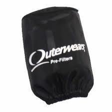 "Outer Wear Black Pre-filter w/cap 3-1/2"" X 8"""