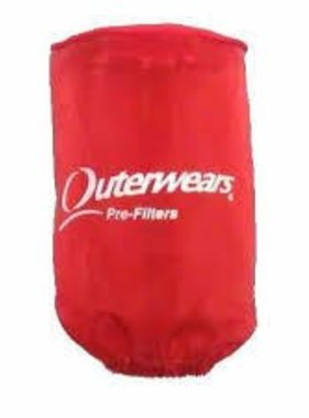 """Outer Wear Red Pre-filter w/cap 3-1/2"""" X 8"""""""