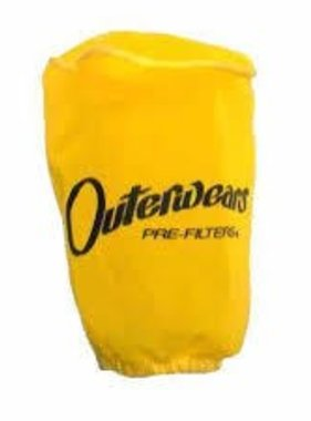 "Outer Wear Yellow Pre-filter w/cap 3-1/2"" X 8"""