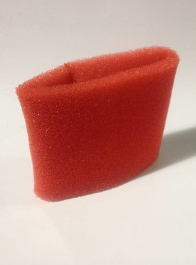 "Red Foam Pre Filter 3-1/2"" ID X 5"" Long"
