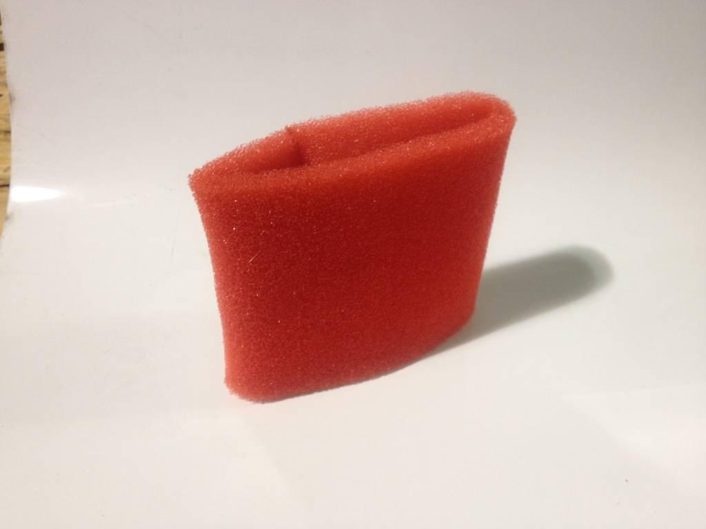 """Red Foam Pre Filter 3-1/2"""" ID X 5"""" Long"""
