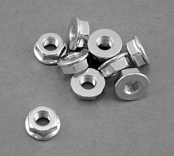 "Wheel Nut 1/4-28 (7/16"" Hex Head)"