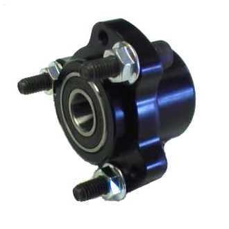"Front Hub Kit w/ 5/8"" bearings & hardware (Black)"