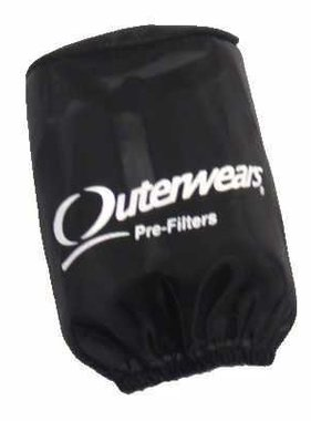 "Outer Wear Black Pre-filter w/cap 3-1/2"" X 4"""
