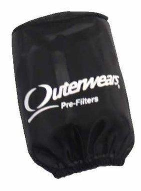 "Outer Wear Black Pre-filter w/cap 3-1/2"" X 4"""