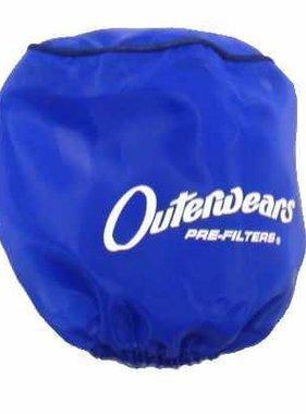 "Outer Wear Blue Pre-filter w/cap 3-1/2"" X 8"""