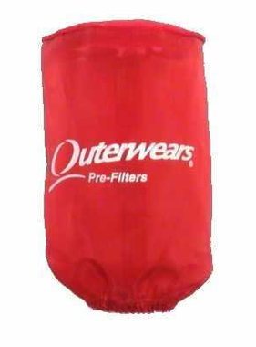 "Outer Wear RED PREFILTER W/CAP 3-1/2"" X6"