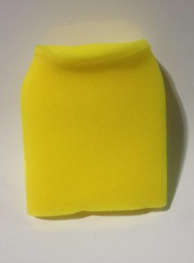 "Yellow Foam Pre-filter 3-3/4"" X 6"" w/cap"