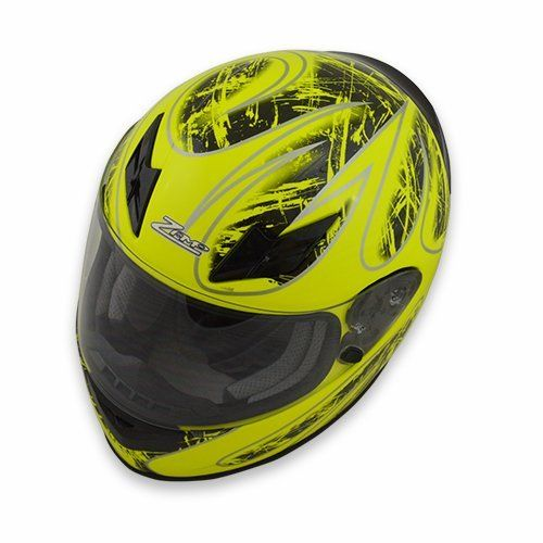 Zamp Zamp FS-8 Helmet (Graphic Green/Black, Large)