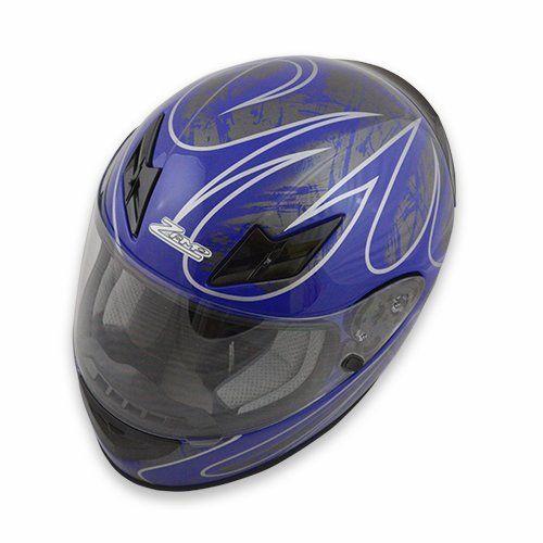 Zamp Zamp FS-8 Helmet (Graphic Blue/Silver, Small)