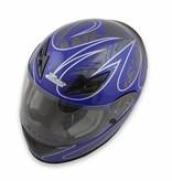 Zamp Zamp FS-8 Helmet (Graphic Blue/Silver, Medium)