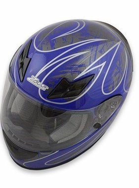 Zamp FS-8 Helmet (Graphic Blue/Silver, Large)