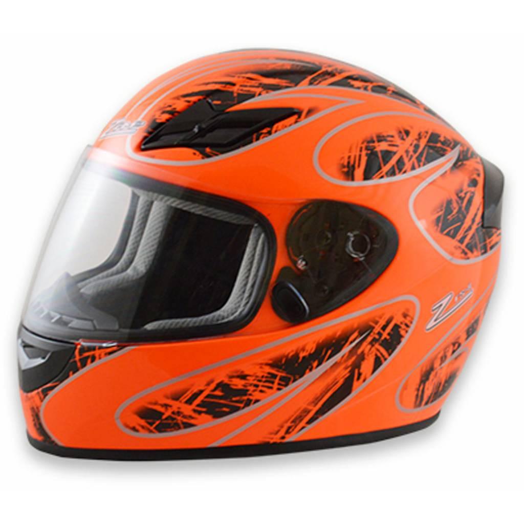 Zamp Zamp FS-8 Large Orange and Black Helmet