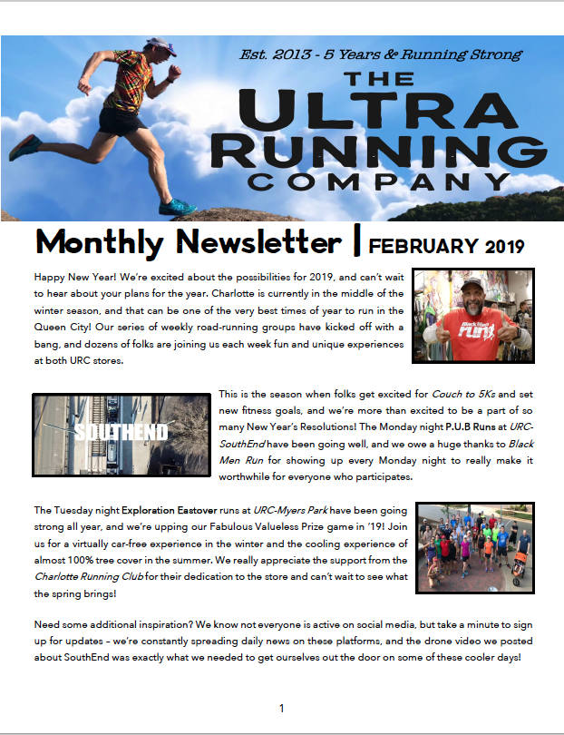 URC Newsletter - The Ultra Running Company