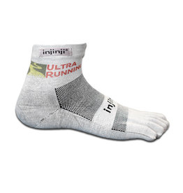 Injinji Footwear, Inc. Injinji URC Logo Run Lightweight Mini-Crew XtraLife Socks