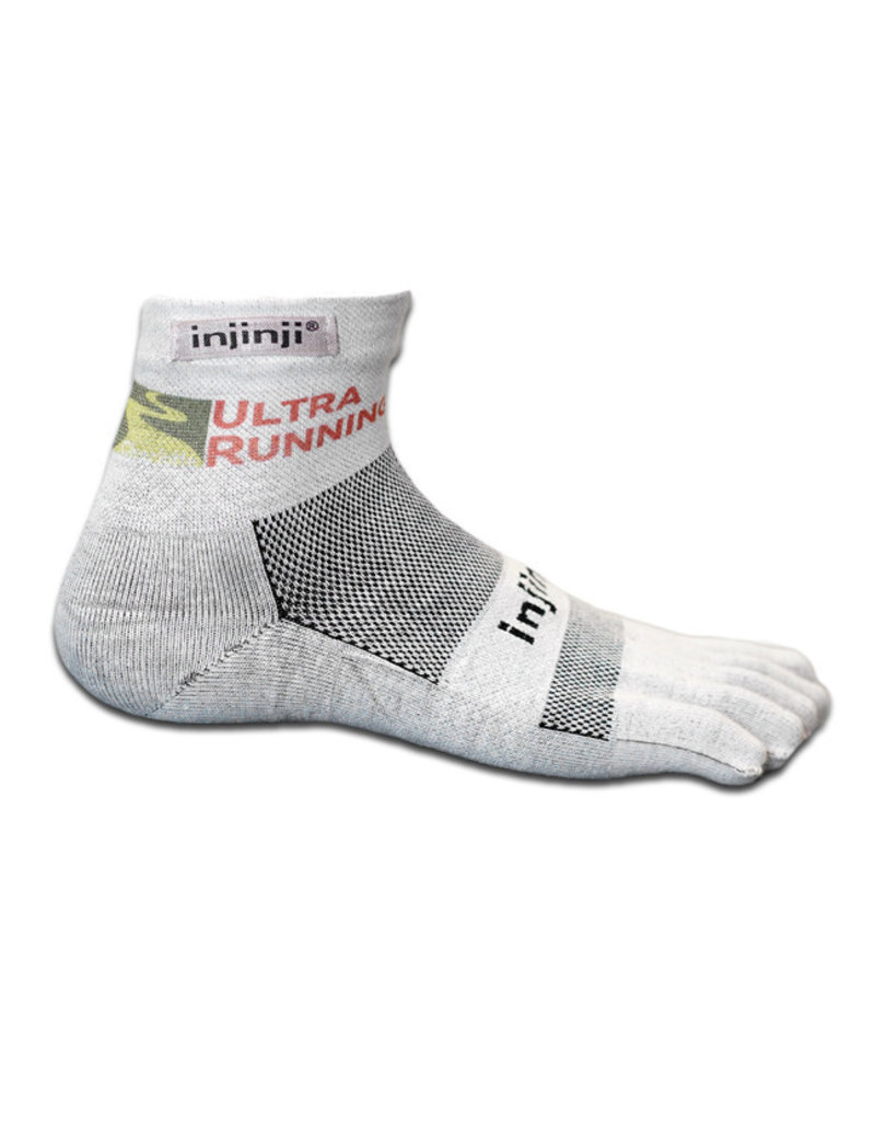 Injinji Footwear, Inc. Injinji URC Logo Run Lightweight Mini-Crew XtraLife Socks