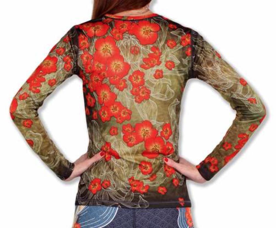 InknBurn INKnBURN LS Tech Shirt (W) - Quince Blossom