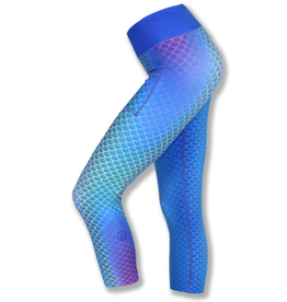 InknBurn INKnBURN Capris - Mermaid Azul (Size 2)