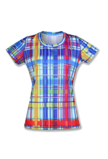 InknBurn INKnBURN Tech Tee (W) - Rainbow Plaid