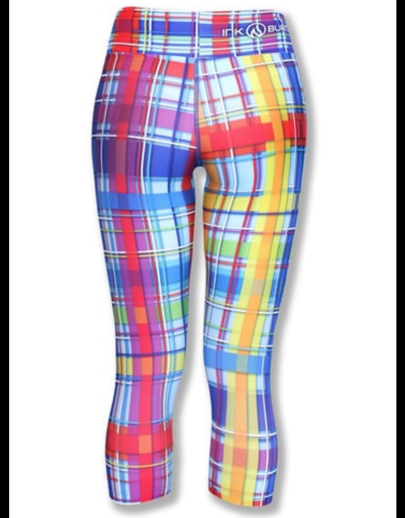 InknBurn INKnBURN Capris - Rainbow Plaid