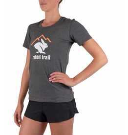 rabbit rabbit trail run fast, lounge hard SS tee (W)