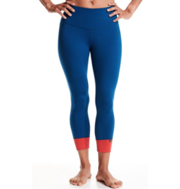 Oiselle Running, Inc Oiselle Bird Hug Reversible Tights (W) Curfew/Blaze (Size 12)