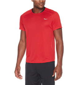 Saucony Saucony Revolution Short Sleeve (M) Cherry Red (Size Small)