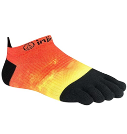 Injinji Footwear, Inc. Injinji Spectrum Run Lightweight No-Show - Coolmax XtraLife Orange Flash (Size S)