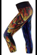 InknBurn INKnBURN Capris - Painted Feather
