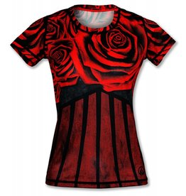 InknBurn INKnBURN Tech Tee (W) - Red Rose