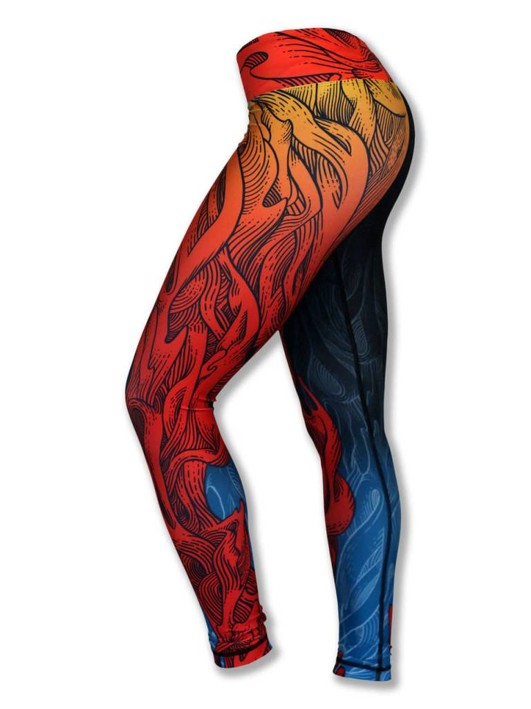 9677690d1e InknBurn INKnBURN Tights - Run Or Die Fire - The Ultra Running Company