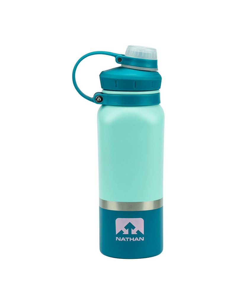 Nathan Sports NATHAN HammerHead Steel Insulated Bottle 18oz - Beach Glass/Biscay Bay/Pink Lady