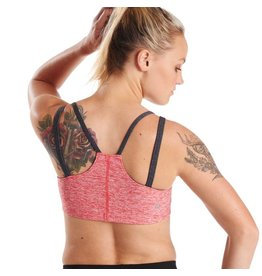 Oiselle Running, Inc Oiselle Lux Verrazano Bra Heather Rio Red (Size 12)