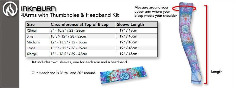 InknBurn INKnBURN 4Arms/Headband Kit - Splash