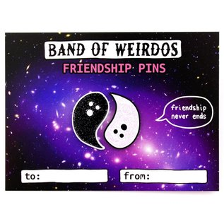 Band of Weirdos Ghost Yin & Yang Enamel Pin Set