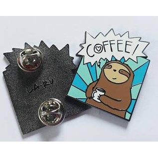 La Ru Coffee! Sloth Enamel Pin