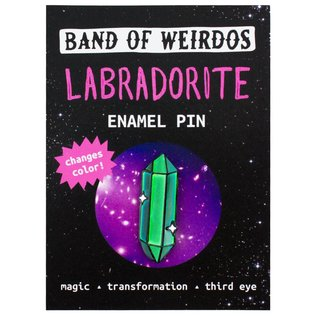 Band of Weirdos Labradorite Enamel Pin